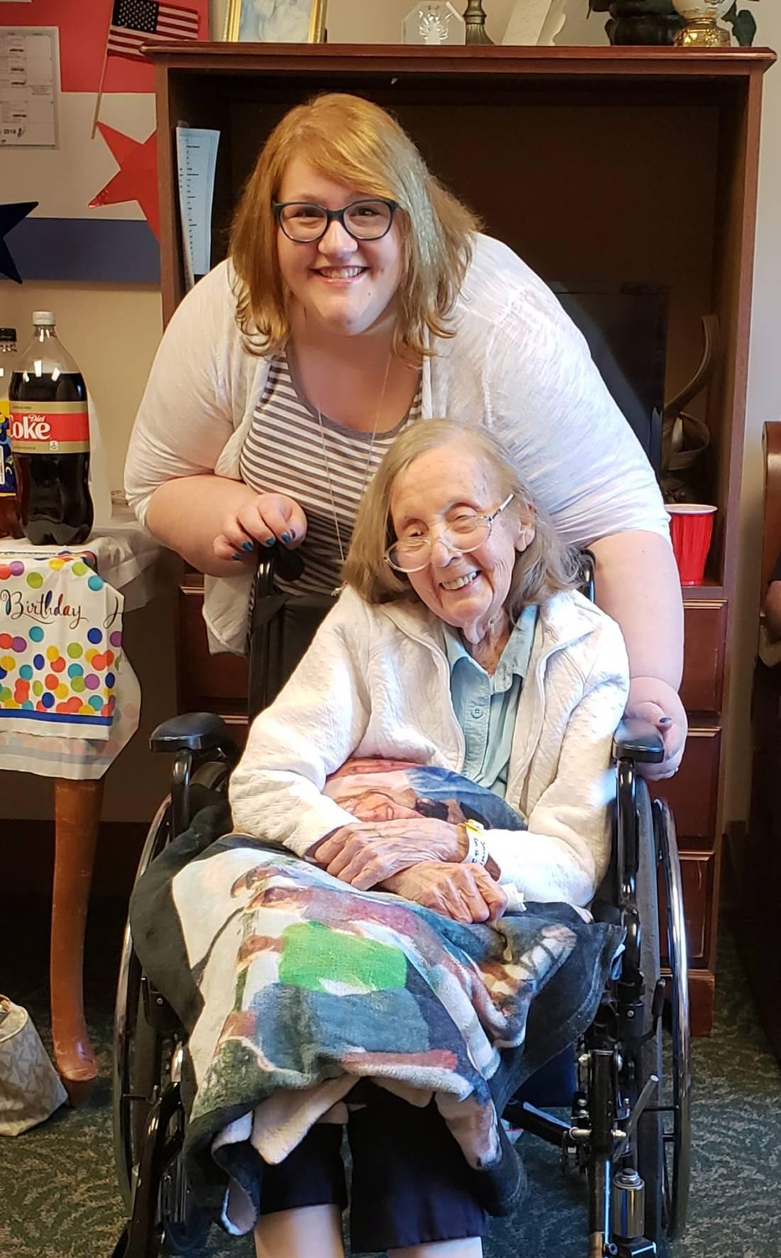 me and grandmom